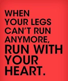 Like at mile 25.7 of my marathon when BOTH my legs cramped up and I felt like crawling to the curb - but DIDNT!!!