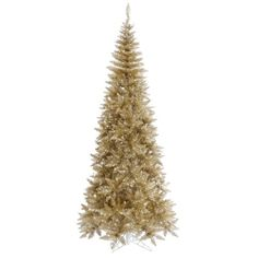 7.5' Champagne Fir Artificial Christmas Tree - Unlit ** See this awesome product @ http://www.amazon.com/gp/product/B00FPTNREM/?tag=christmasdecor1-20&pop=260816054804