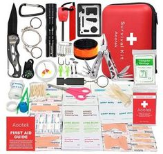 Survival and Emergency prepare are redness be prepared through unexpected major crisis situations, natural weather disasters, and survival situations which require medical-grade supplies for fast treatment and pain relief.