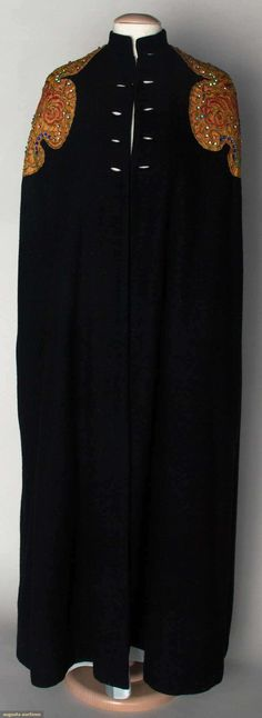 Elsa Schiaparelli Evening Cape, 1937-1938, Augusta Auctions, November 13, 2013 - NYC, Lot 303...look at that estimate!!!