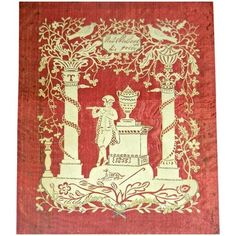 Cut Paper on Silk Scherenschnitte Dated 1853 Paper Book, Paper Art, Paper Crafts, Cut Paper, Paper Cutting, Missing Piece, China, Empire Style, Art