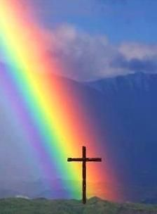 """THE CROSS IS THE """"POT OF GOLD"""" AT THE END OF THE RAINBOW !!!!"""