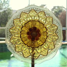 Yellow Amber Depression Glass Federal Petal by ARTfulSalvage, $40.00