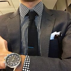 """Must-have accessories paired with an unexpected shirt. Well done, @themetroman #thetiebar #Regram #TheMetroMan Tie, $25 (link in profile)"""