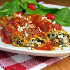 Easy Meatless Manicotti