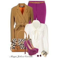 """""""Purple and Leopard"""" by maggie-jackson-carvalho on Polyvore"""