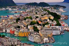 Alesund (Norway) At midnight it will not look like this. That is when we get here.