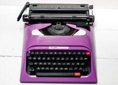 Typewriter Olivetti   Radiant Orchid  Vintage by ElGranero on Etsy, $185.00