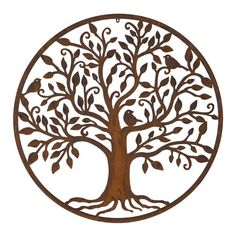 Buy Bird tree wall plaque - Oxidised metal bird and tree wall hanging: Delivery by Waitrose Garden Metal Walls, Metal Wall Art, Buy Birds, Metal Birds, Structure Metal, Bird Tree, Easy Wall, Enchanted Garden, Tree Wall