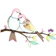 Love birds print, print of a watercolor illustration