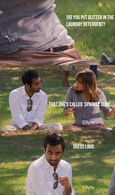 "Parks and Recreation Season Five Episode 1: Ms. Knope Goes to Washington. ""Sparkle Suds: Dress Loud."""