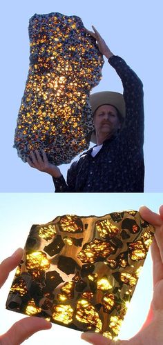 The rare Fukang Meteorite looks more like a transparent mosaic than a chunk of rock from outer space.