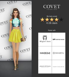 Covet Fashion Game. Look: Who Wore it Best? PARTYSKIRTS by SKOT