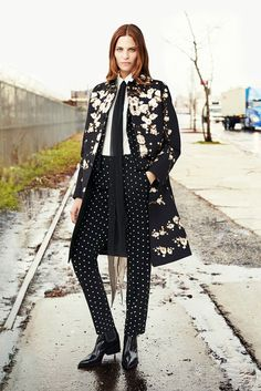 Now this is how you mix florals + polka dots—Givenchy Pre-Fall 2015