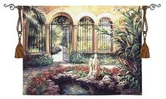 """East Garden - 53""""x40"""" Tapestry Wall Hanging"""