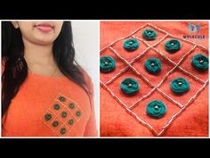 Easy hand embroidery tutorial for beginners Hand Embroidery Design Patterns, French Knot Embroidery, Hand Embroidery Videos, Embroidery Stitches Tutorial, Hand Embroidery Flowers, Flower Embroidery Designs, Beaded Embroidery, Embroidery Online, Kurti