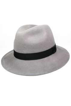 Women look sexy in men clothes. Wear a hat! Makes you look mysterious and intriguing. A 100% wool felt fedora in warm grey is a fantastic addition to your wardrobe. Also available in navy. Go sexy, be classy!