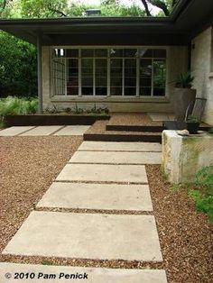 Image result for concrete patio and crushed granite austin
