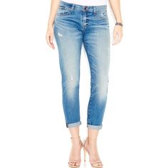 Lucky Brand Sienna Cigarette Skinny Jeans Tomales Bay Wash ($99) ❤ liked on Polyvore