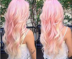 33 trendy ombre hair color ideas of 2019 - Hairstyles Trends Ombre Hair, Pink Hair, Blonde Hair, Blonde Balyage, Yellow Hair, Rose Blonde, Blonde Streaks, Blonde Ombre, Wavy Hair