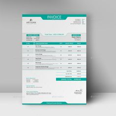 Buy Invoice by artisanHR on GraphicRiver. Invoice This Invoice will help you in your business to save time, organize you product data and customer's info and . Invoice Design Template, Letterhead Design, Stationery Design, Brochure Template, Branding Design, Templates, Invoice Format In Excel, Printable Invoice, Firma Email