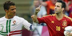 España vs Portugal es la primera semifinal de esta Euro 2012