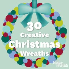 We love this collection of creative Christmas wreath ideas! More holiday decorations: http://www.bhg.com/holidays/easy-holiday-decorating-ideas/