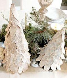 Classy Cardboard Christmas Trees | AllFreeKidsCrafts.com