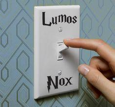 Naklejka na włącznik światła Lumos/Nox