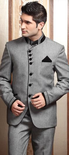 Black and Grey color family Suits. Possible wedding outfits. Mens Fashion Suits, Mens Suits, Men's Fashion, Blazer Outfits Men, Indian Groom Wear, Nehru Jackets, Blazers For Men, Wedding Suits, Wedding Attire