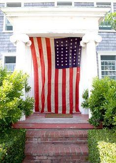 John Derian in Cape Cod, red, white blue, Memorial Day, July 4th
