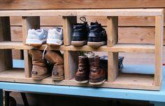 schoenenrek uit steigerhout