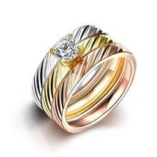 Voga SJTGR031 Sarja Titanium Aço Branco Chapeamento de Ouro e Ouro Rosa e Ouro…