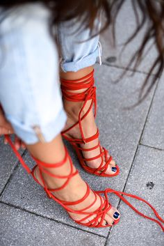 Red Lace Up (Not Your Standard)