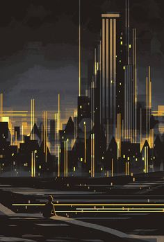 The Broad View. Architecture with Linear Cityscape Paintings. To see more art and information about Scott Uminga click the image. City Painting, Oil Painting Abstract, Acrylic Paintings, Abstract City, Abstract Landscape, Elements Of Art, City Art, Of Wallpaper, Online Art Gallery