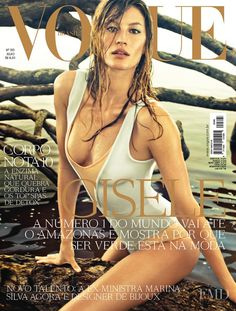 Cover of Vogue Brazil with Gisele Bundchen, July 2011 (ID:9411)| Magazines | The…