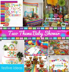 How to Plan a Fun Taco-themed Baby Shower Fiesta! Get Your Cinco de Mayo Baby Shower in Gear with our Ideas: Decor to Favors! Festive and Easy to Plan. Diy Centerpieces, Baby Shower Centerpieces, Baby Shower Favors, Baby Shower Cakes, Baby Shower Themes, Baby Boy Shower, Baby Shower Decorations, Elephant Cupcakes, Mini Pinatas