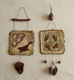 Maknue Arte Patagónico Macrame Projects, Art Projects, Arts And Crafts, Paper Crafts, Africa Art, Textile Fiber Art, Stencil Art, Elementary Art, Art For Kids