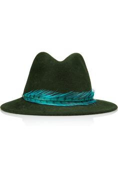Eugenia Kim | Harper feather-trimmed wool-felt fedora | NET-A-PORTER.COM