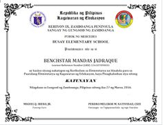 DIPLOMA TEMPLATE EDITABLE SAMPLE - DepEd LP's