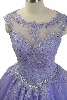 Quinceanera Dresses with Applique and Beadings, Purple Formal Gowns Gorgeous Quinceanera Dresses with Applique and Beadings, Purple Formal – BeMyBridesmaid Jj Dresses, Quince Dresses, Sweet 16 Dresses, Ball Dresses, Pretty Dresses, Beautiful Dresses, Ball Gowns, Fashion Dresses, Lavender Quinceanera Dresses