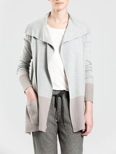 High Side Slit Pocket Cardigan by White + Warren