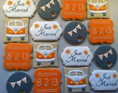 unique wedding cookies | Personalized wedding cookies | Food
