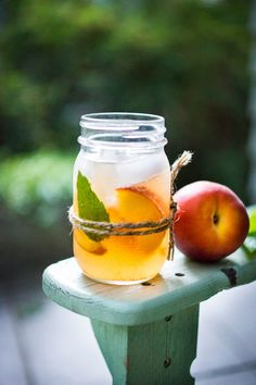 Peach and Elderflower Sangria | Feasting At Home