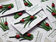 Paper quilling idea for kids Quilling Cards, Paper Quilling, Mothers Day Crafts, Crafts For Kids, Quilling Designs, Quilling Ideas, Quilling Animals, Red And White Flowers, Welcome Spring