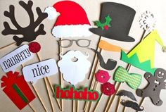 Christmas Photo Booth christmas party idea: photo booth props