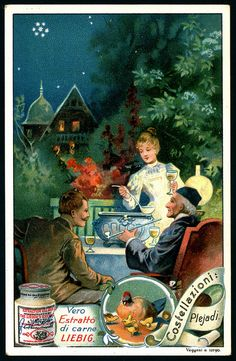 1903. Constellations (Pleiades) trading card issued by Liebig Extract of Beef Company. S727.
