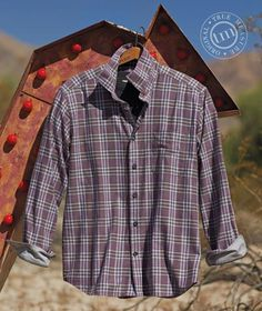 MEALLING Flannel Plaid Shirts for Men Long Sleeve Regular Slim Fit Button Down Casual Cotton Fishing Camp Hanging Out Shirt