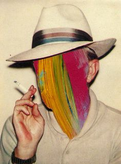 #Collage - Reimagined Andy Warhol Polaroid of Truman Capote by Edoardo de Falchi
