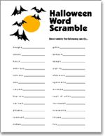 Halloween word scrambles printable sheet. | Free Printables ...